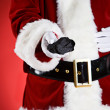 Santa: Naughty People Get Coal For Christmas — Lizenzfreies Foto