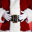 Stock Photo: Santa: SantWith Hands On Belly