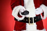 Santa: Naughty People Get Coal For Christmas — Stock Photo
