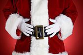 Santa: Santa With Hands On Belly — Stock Photo