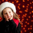 Christmas: Winter Girl With Holiday Wish — Stock Photo
