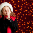 Christmas: Winter Girl With Holiday Wish — Stockfoto