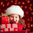 Christmas: Carrying A Big Stack Of Christmas Gifts — Stockfoto