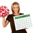 2014 Calendar: Exctied For Spring March Sports — Stock Photo