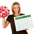 2014 Calendar: Exctied For Spring March Sports — Stock Photo #37238015