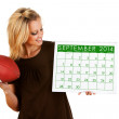 2014 Calendar: Excited For Fall Football — Stock Photo