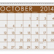 Stock Photo: 2014 Calendar: October