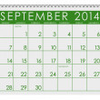 Stock Photo: 2014 Calendar: September