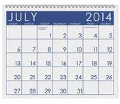 2014 Calendar: July — Stock Photo