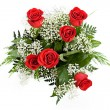 Valentine: Overhead View Of Rose Bouquet — Stok Fotoğraf #38028469