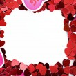 Stock Photo: Valentine: Paper Heart Valentine Frame or Border