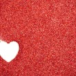 Glitter: Red Glitter With Heart Drawn Background — Foto Stock #38151285