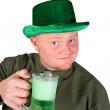 Leprechaun: Having A Green Beer — Stock Photo #38152557