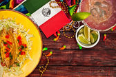 Background: Tacos, Margaritas and Lots of Fun! — 图库照片