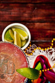 Background: Focus on Margarita and Glass — Stockfoto