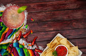 Background: Cinco De Mayo Celebration With Margarita — Stock fotografie