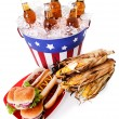Summer: Wide Angle of Patriotic Holiday Food — Stock Photo #44761227