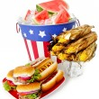 Summer: Festive Patriotic Holiday Lunch — Stock Photo #44761375