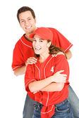 Baseball: Two Baseball Friends — Stockfoto