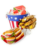 Summer: Festive Patriotic Holiday Lunch — 图库照片