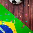 Soccer: Brasil Ball and Confetti Background — Stock Photo #46362755