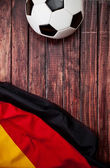 Soccer: German Flag and Ball Background — Stock Photo