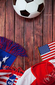 Soccer: Patriotic United States Background With Scarf — Stock Photo