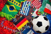 Soccer: International Competition And Ball Background — Stock Photo