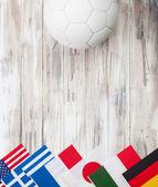 Soccer: Multi-National Flag Background For International Competi — Stockfoto