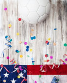 Soccer: USA Party Background For International Competition — Stock Photo