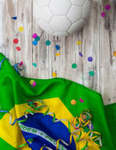 Soccer: Brasil Background For International Competition — Stock Photo