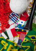 Soccer: Party Background For International Competition — Stock Photo