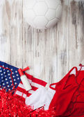Soccer: United States Party Background For International Competi — Stock Photo