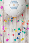 Soccer: Argentina Background With Confetti — Stock Photo