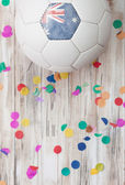 Soccer: Australia Background With Confetti — Stock Photo