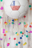 Soccer: Chile Background With Confetti — Stock Photo