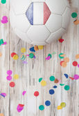 Soccer: France Background With Confetti — Stock Photo