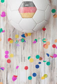 Soccer: German Background With Confetti — Stock Photo