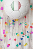 Soccer: Italy Background With Confetti — Stock Photo