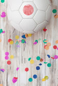 Soccer: Japan Background With Confetti — Stock Photo