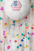 Soccer: United States Background With Confetti — Stock Photo