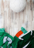 Soccer: Irish Background For International Competition — Stock Photo