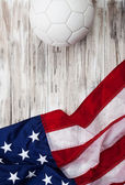 Soccer: USA Flag Background For International Competition — Stock Photo