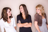 Students: Girlfriends Hanging Out — Foto de Stock