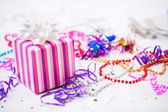 Birthday: Present At Girl's Birthday Party — Stock Photo