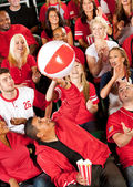 Fans: Having Fun with a Beach Ball — Foto Stock