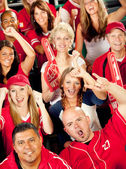 Fans: Crowd Cheers for their Favorite Team — Stock Photo