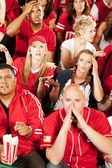 Fans: Crowd Reacts Badly to Losing Team — Stockfoto