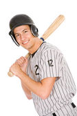 Baseball: Player Ready To Bat — Stock Photo
