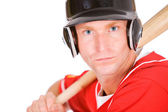 Baseball: Player Ready To Bat For Team — Foto de Stock